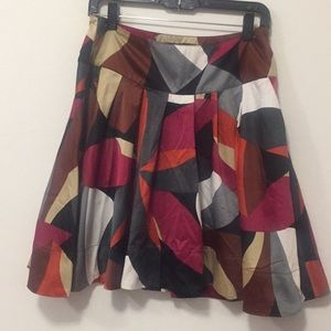 H&M Silk Look Pleated Skirt- Size 8